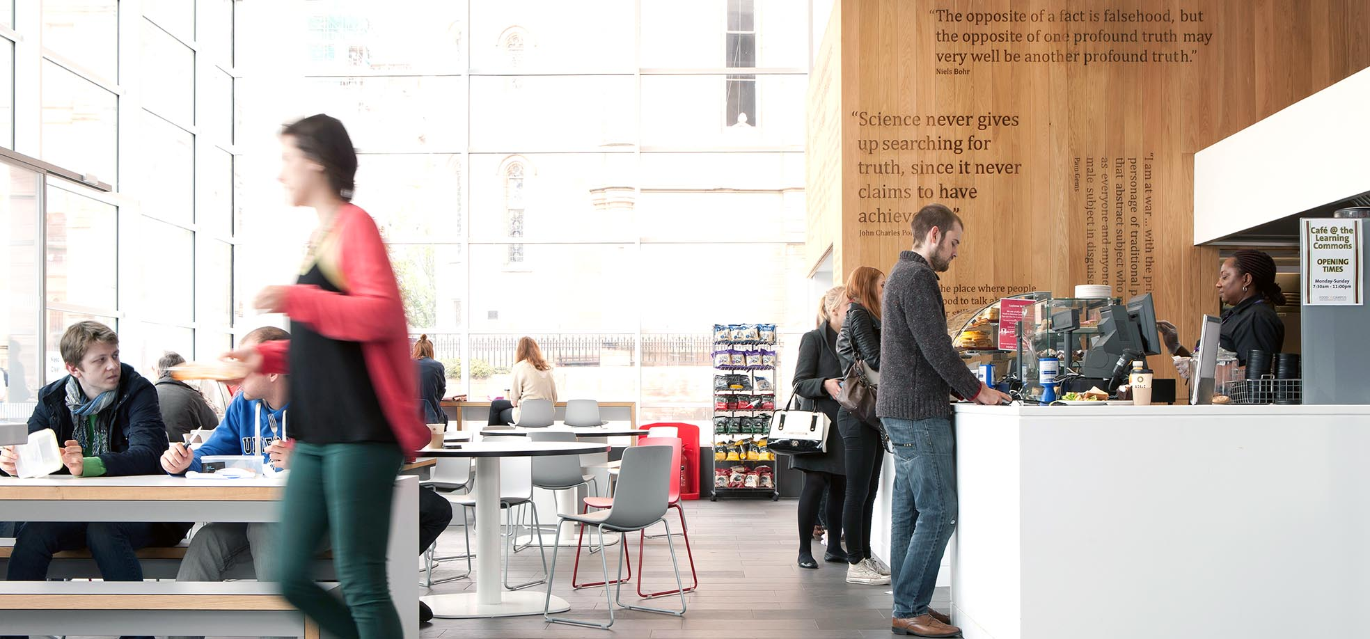 Image: Students at open day